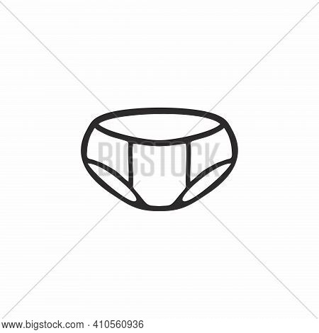 Children's Underwear For Boys And Girls. Contour Illustration On Intimate Hygiene, Body Care, And Ch