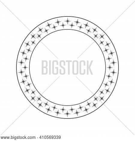 Ring Is Made Of Twinkling Stars. Vector Illustration For Design. Flat Style.