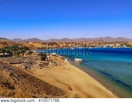 View Of Sharm El-maya Bay In Sharm El Sheikh (egypt). Beautiful Exotic Landscape Of The Red Sea Amon