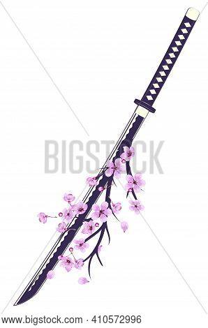 Japanese Sword Katana With Sakura