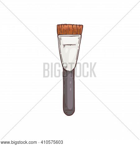 Brush For Fashion Makeup, Applying Cosmetic Powder Or Blush To Face.