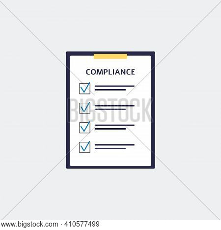 Regulatory Compliance Checklist Rules, Standard Or Policy Of Company