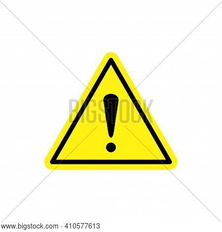 Warning Attention Sign Icon Vector. Warning Attention Sign Icon Isolated On White Background. Warnin