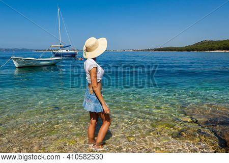 Relax transparent sea water Adriatic