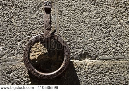 Firenze, Italy - April 21, 2017:medioval Ring For Horse In Florence, Firenze, Tuscany, Italy