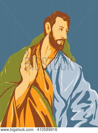 Wpa Poster Art Interpretation Of The Artwork Of 16th Century Spanish Renaissance Artist, El Greco En