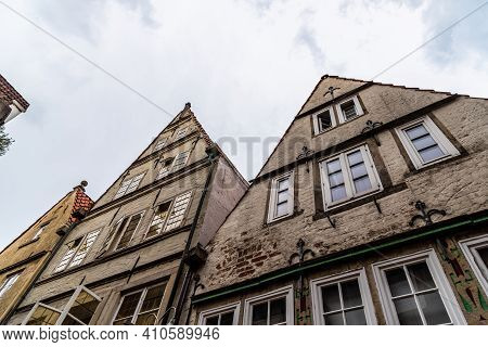 Picturesque Gable Houses In Historic City Center Of Bremen