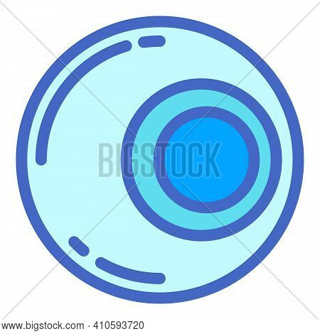 Soft Contact Lens Icon. Outline Soft Contact Lens Vector Icon For Web Design Isolated On White Backg
