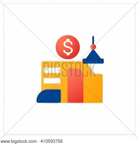 Venture Builder Flat Icon. Successfully Producing New Companies, Helps Grow And Succeed. Profitable
