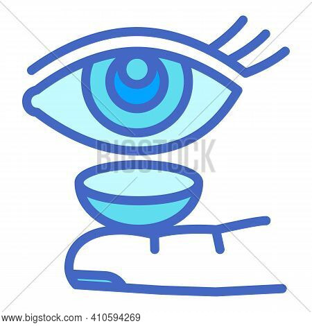 Put Contact Lens Icon. Outline Put Contact Lens Vector Icon For Web Design Isolated On White Backgro