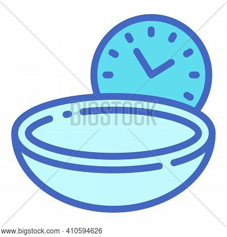 Contact Lens At Night Icon. Outline Contact Lens At Night Vector Icon For Web Design Isolated On Whi