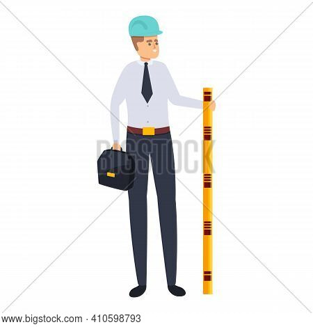 Builder Architect Icon. Cartoon Of Builder Architect Vector Icon For Web Design Isolated On White Ba