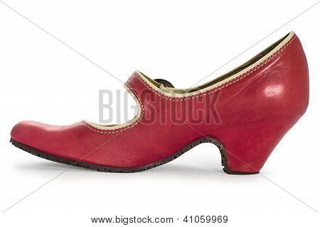 Red Shoe Isolated On White