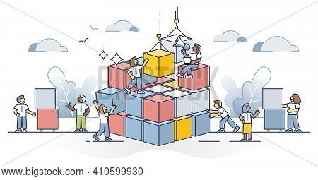 Collaboration Complexity Challenge As Difficult Task Teamwork Outline Concept