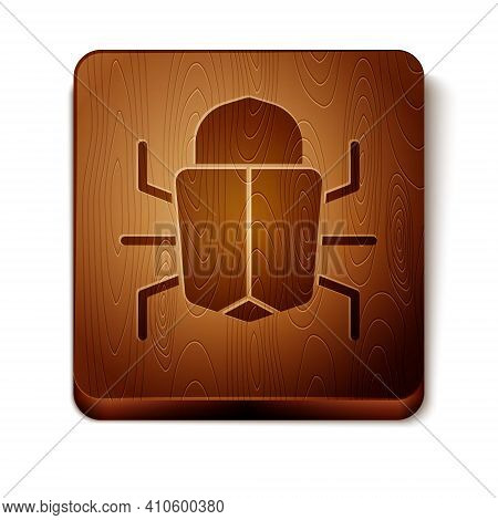 Brown System Bug Concept Icon Isolated On White Background. Code Bug Concept. Bug In The System. Bug