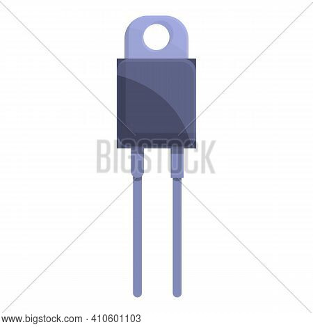Electrical Resistor Icon. Cartoon Of Electrical Resistor Vector Icon For Web Design Isolated On Whit
