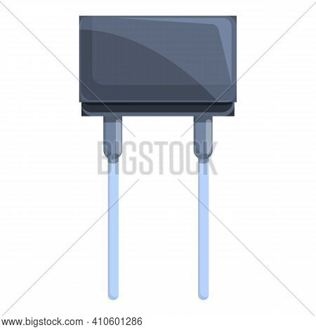Diode Resistor Icon. Cartoon Of Diode Resistor Vector Icon For Web Design Isolated On White Backgrou
