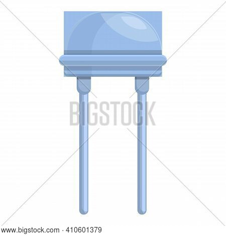 Fixed Resistor Icon. Cartoon Of Fixed Resistor Vector Icon For Web Design Isolated On White Backgrou