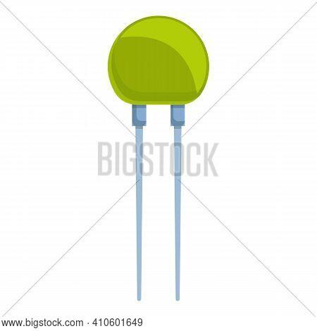 Semiconductor Resistor Icon. Cartoon Of Semiconductor Resistor Vector Icon For Web Design Isolated O