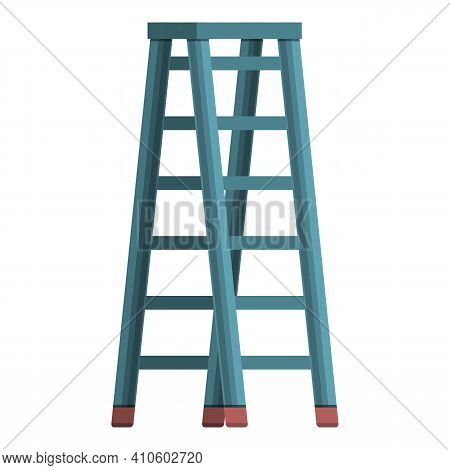 Climb Ladder Icon. Cartoon Of Climb Ladder Vector Icon For Web Design Isolated On White Background