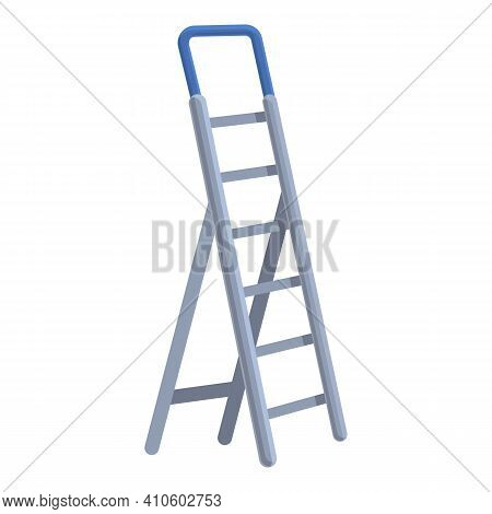 Stairs Ladder Icon. Cartoon Of Stairs Ladder Vector Icon For Web Design Isolated On White Background