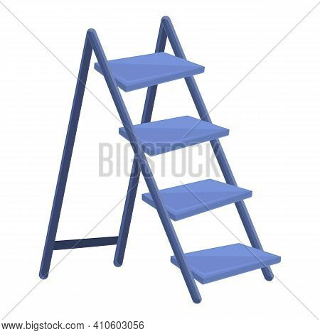 Double Ladder Icon. Cartoon Of Double Ladder Vector Icon For Web Design Isolated On White Background