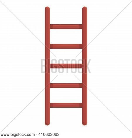 Folding Ladder Icon. Cartoon Of Folding Ladder Vector Icon For Web Design Isolated On White Backgrou