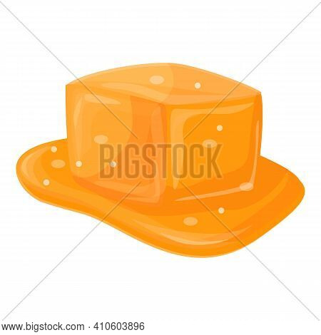 Salty Caramel Icon. Cartoon Of Salty Caramel Vector Icon For Web Design Isolated On White Background
