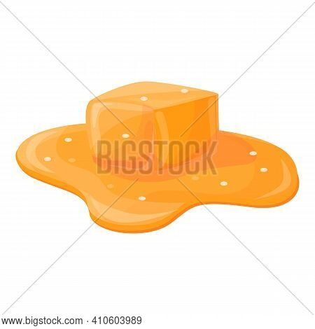 Melted Caramel Icon. Cartoon Of Melted Caramel Vector Icon For Web Design Isolated On White Backgrou