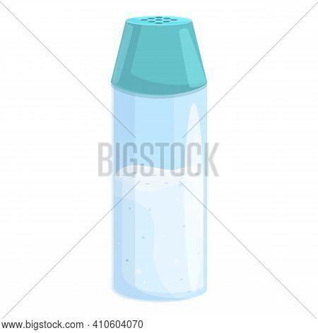 Salt Jar Icon. Cartoon Of Salt Jar Vector Icon For Web Design Isolated On White Background