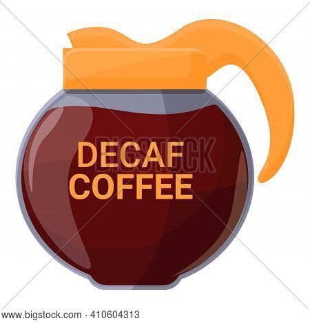 Kettle Decaf Icon. Cartoon Of Kettle Decaf Vector Icon For Web Design Isolated On White Background