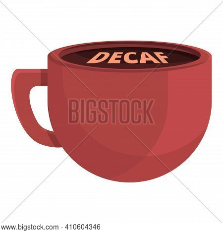 Decaf Cup Icon. Cartoon Of Decaf Cup Vector Icon For Web Design Isolated On White Background