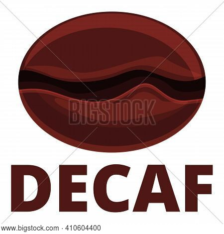 Decaf Bean Icon. Cartoon Of Decaf Bean Vector Icon For Web Design Isolated On White Background