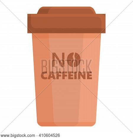 Glass Caffeine Free Icon. Cartoon Of Glass Caffeine Free Vector Icon For Web Design Isolated On Whit