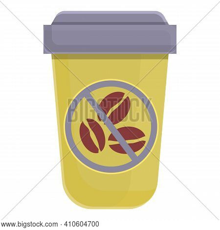 Take Away Coffee Decaf Icon. Cartoon Of Take Away Coffee Decaf Vector Icon For Web Design Isolated O