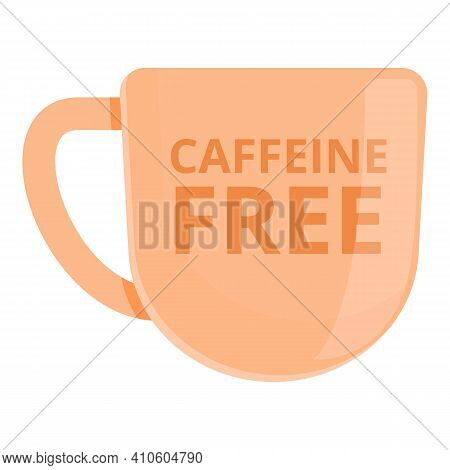 Caffeine Free Cup Icon. Cartoon Of Caffeine Free Cup Vector Icon For Web Design Isolated On White Ba