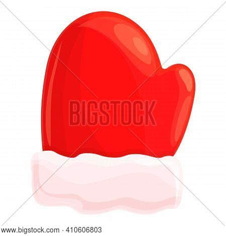 Glove Christmas Candy Icon. Cartoon Of Glove Christmas Candy Vector Icon For Web Design Isolated On