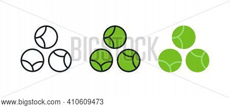 Brussels Sprouts Icon. Linear Color Icon, Contour, Shape, Outline Isolated On White. Thin Line. Mode