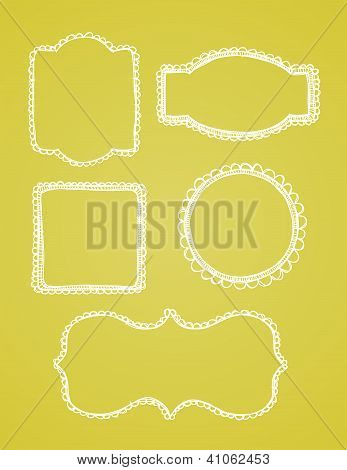 Vector Lace Borders