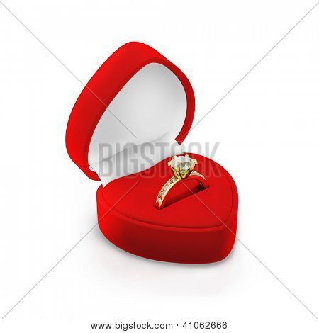 Isolated red ring box on white background