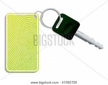 Green Key With Fingerprint Access