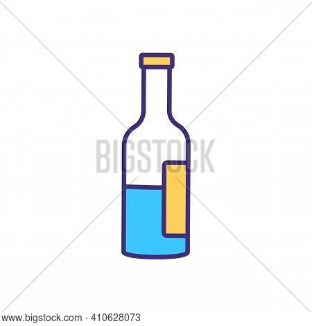 Drinking Alcohol Rgb Color Icon. Moderate Alcoholic Beverages Consumption. Health Benefits From Wine