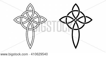 Celtic Cross Knot And Circle Gorgeous Pendant Symbol Friendship, Affection Love For God And Faith, C