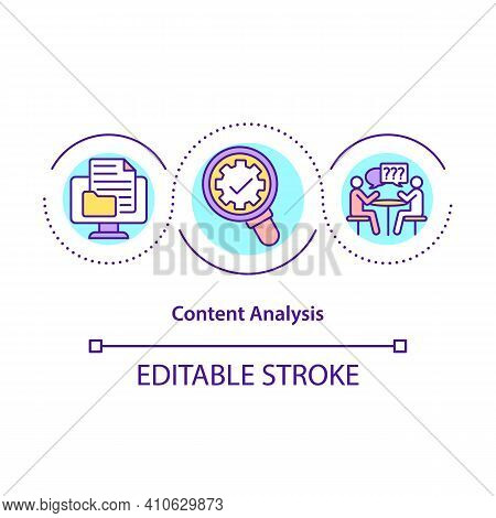 Content Analysis Concept Icon. Study Of Documents And Communication Artifacts. Content Analysis Idea
