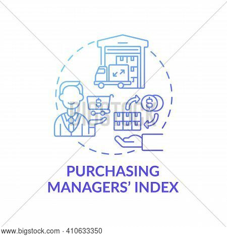 Purchasing Manager Index Concept Icon. Manufacturing And Service Sectors Idea Thin Line Illustration