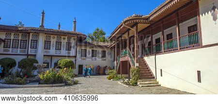The Khan's Palace. It Was Built In The 16Th Century, Decorated In Traditional Crimean Tatar Style. L