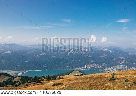 Wonderful Views Of The Austrian Countryside From The Schafber G Mountain To The Rest Of The Alps And