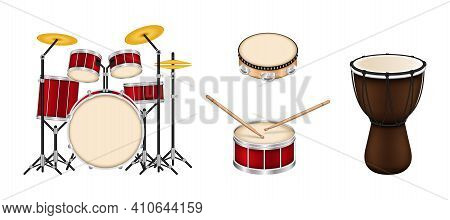 Drum Musical Instruments Collection. Bongo, Drums Drum Snare