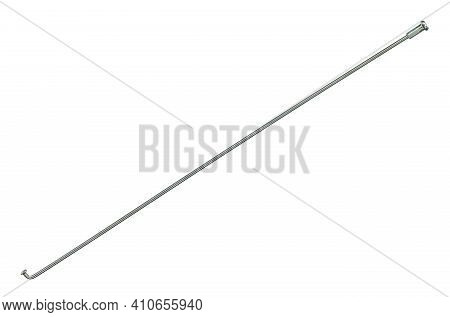 Steel Spoke Wire For Bicycle Wheel (with Clipping Path) Isolated On White Background