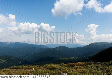 Summer In Carpathian Mountains, Ukraine. The Carpathian Mountains